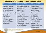 informational reading craft and structure