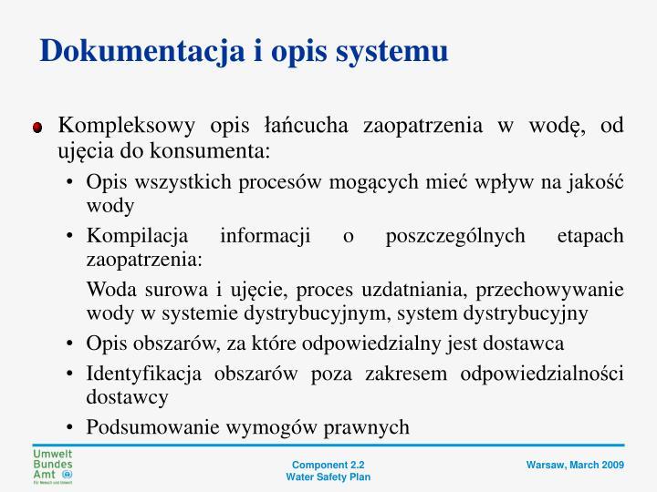 Dokumentacja i opis systemu