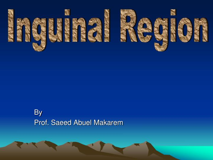 By prof saeed abuel makarem