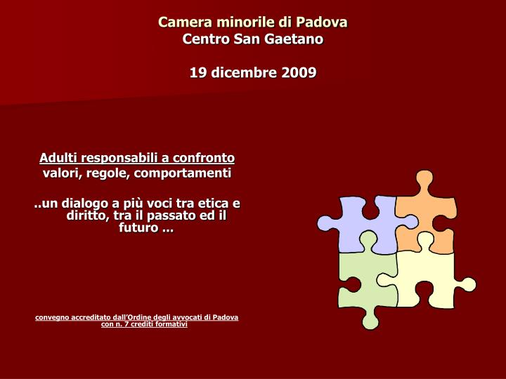Camera minorile di Padova