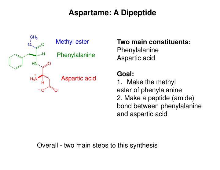 Aspartame: A Dipeptide