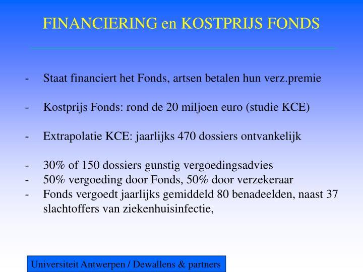 FINANCIERING en KOSTPRIJS FONDS