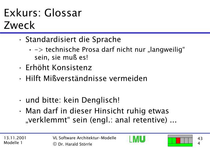 Exkurs: Glossar