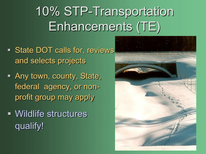 10% STP-Transportation Enhancements (TE)