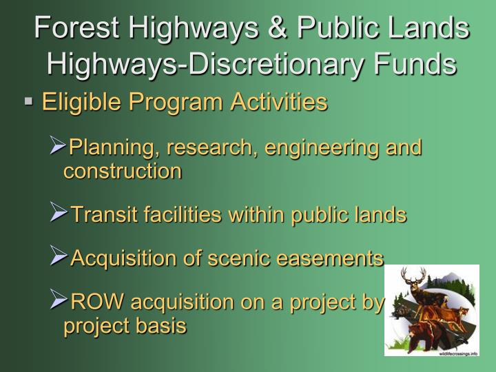 Forest Highways & Public Lands Highways-Discretionary Funds