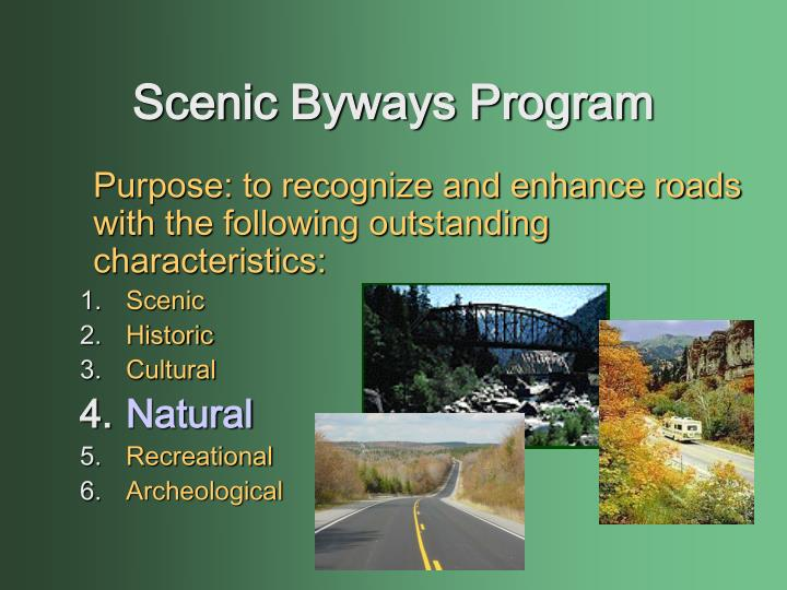 Scenic Byways Program