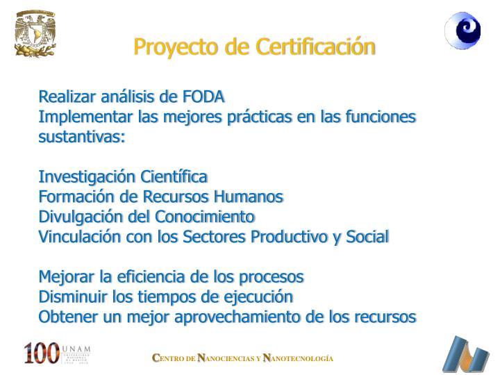 Proyecto de Certificación