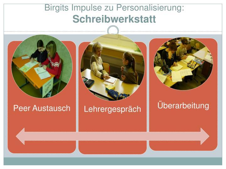 Birgits Impulse zu Personalisierung: