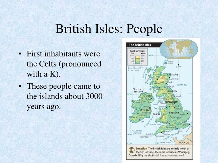British Isles: People