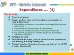 expenditures 4