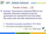 transfer in kinds 5
