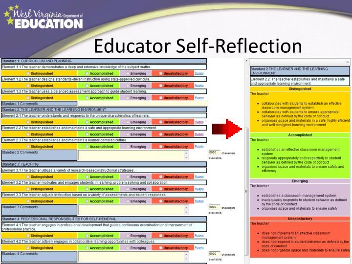 Educator Self-Reflection