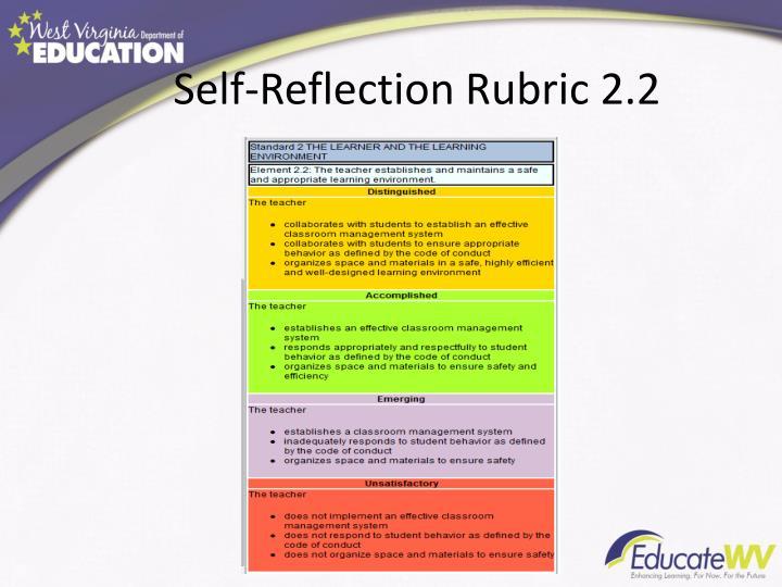 Self-Reflection Rubric 2.2