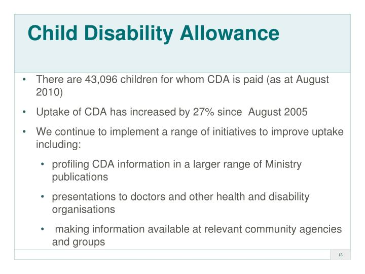 Child Disability Allowance