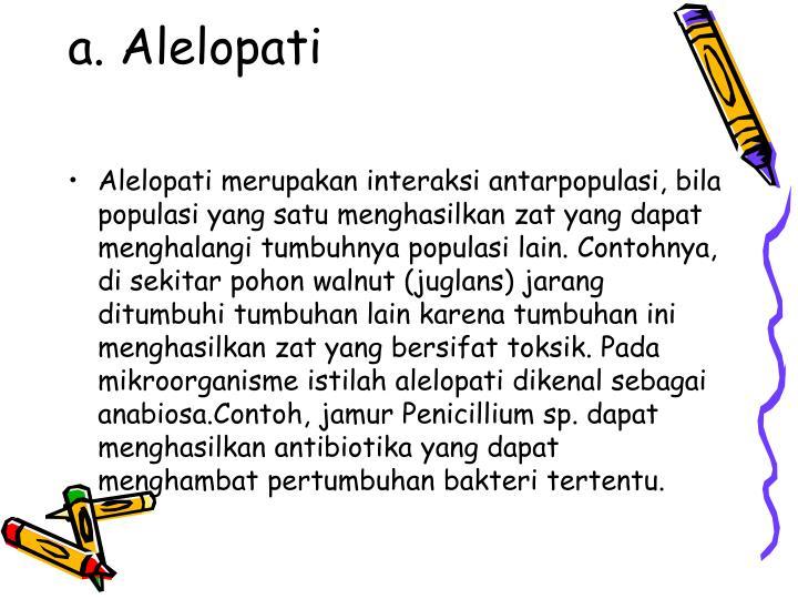 a. Alelopati
