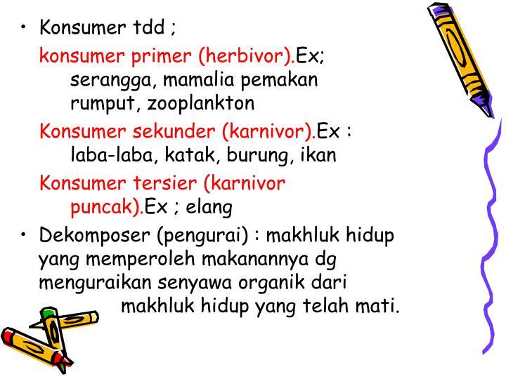 Konsumer tdd ;