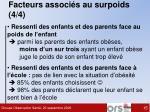 facteurs associ s au surpoids 4 4