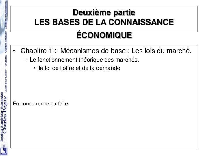 Chapitre 1 : Mécanismes de base : Les lois du marché.