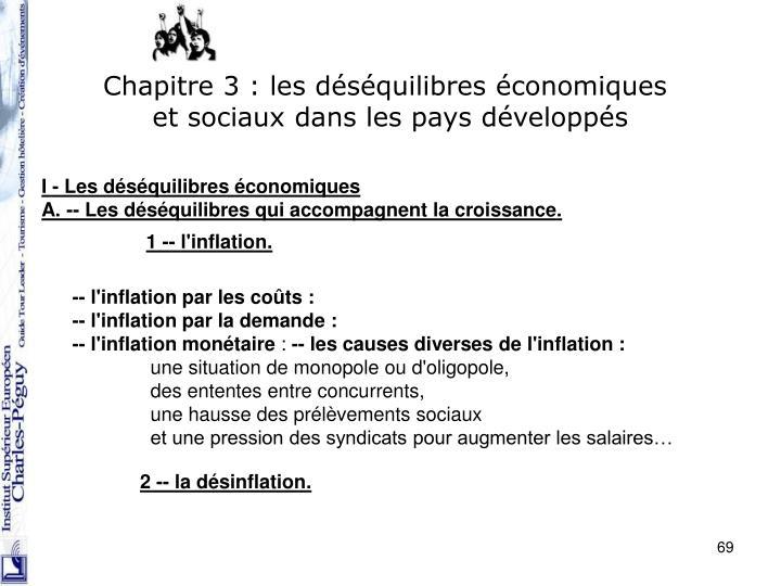 Chapitre 3 : les déséquilibres économiques