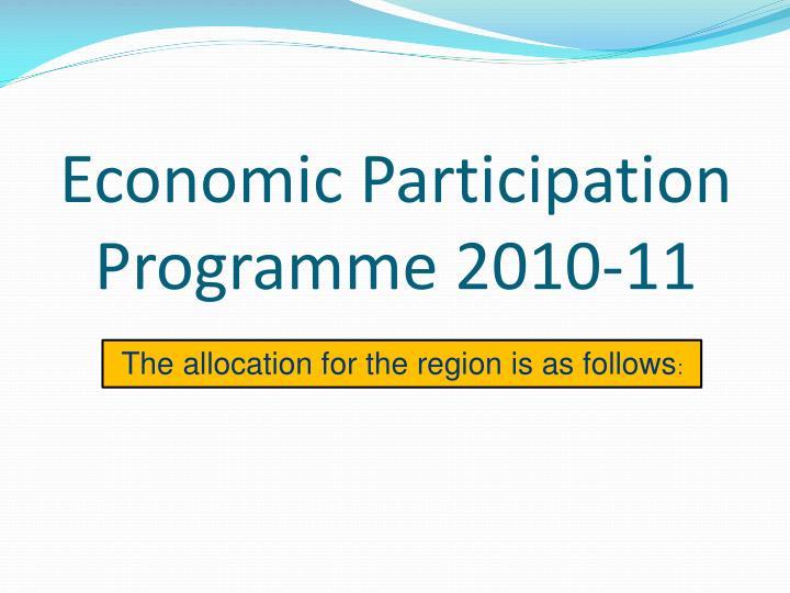 Economic Participation