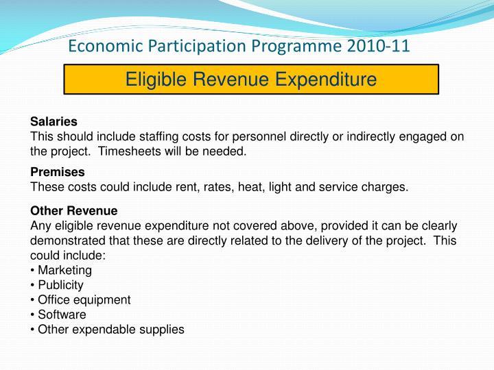 Economic Participation Programme 2010-11