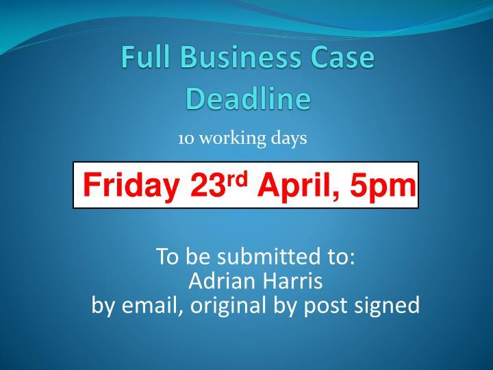 Full Business Case