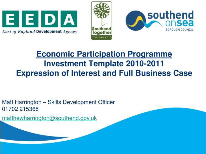 Economic Participation Programme