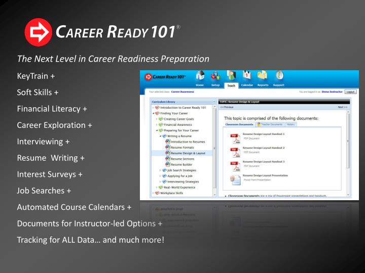 The Next Level in Career Readiness Preparation