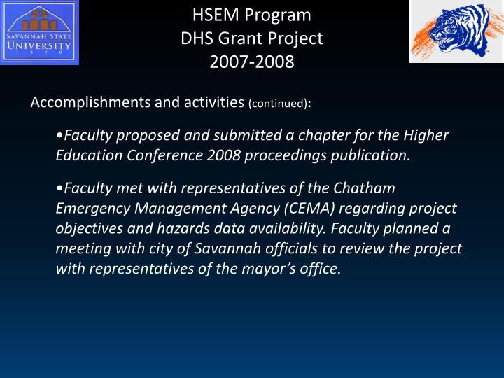 HSEM Program