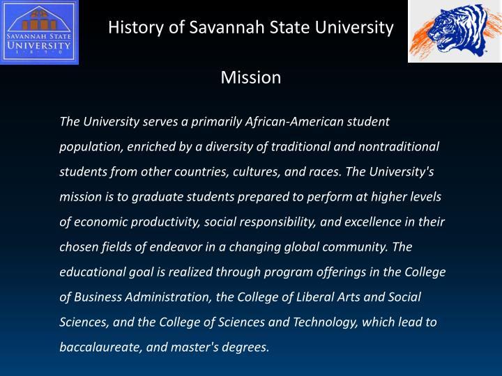 History of Savannah State University
