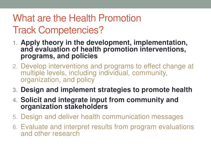 What are the Health Promotion