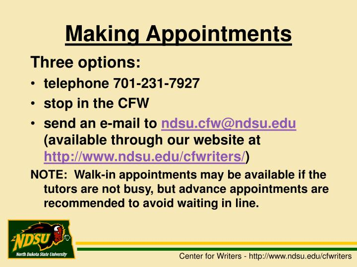 Making Appointments