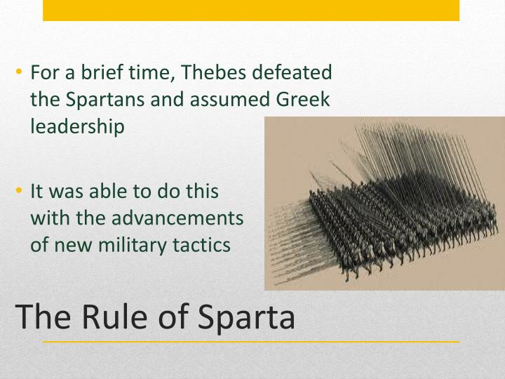 The rule of sparta1