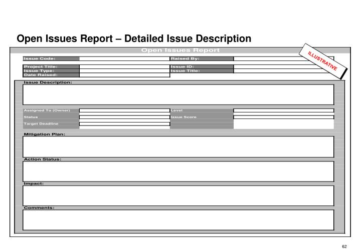 Open Issues Report – Detailed Issue Description