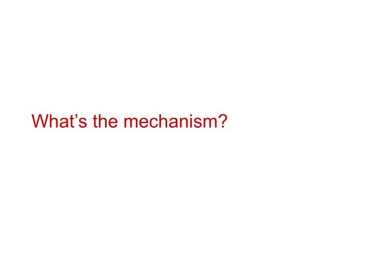 What's the mechanism?