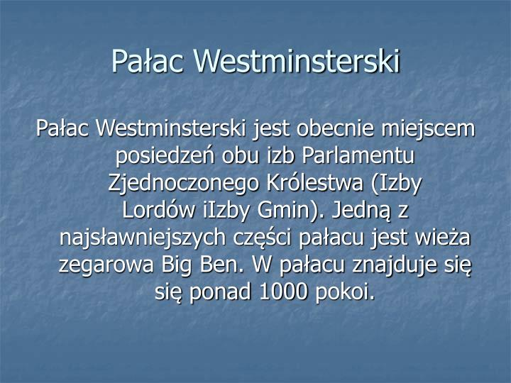 Paac Westminsterski