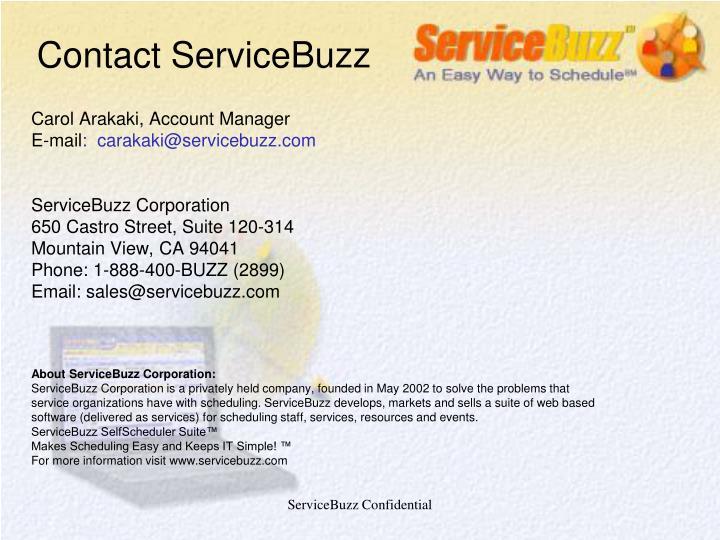 Contact ServiceBuzz