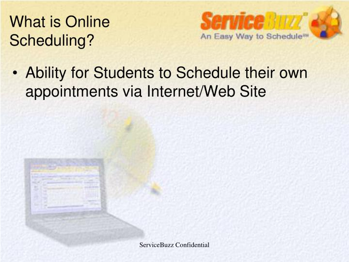 What is online scheduling