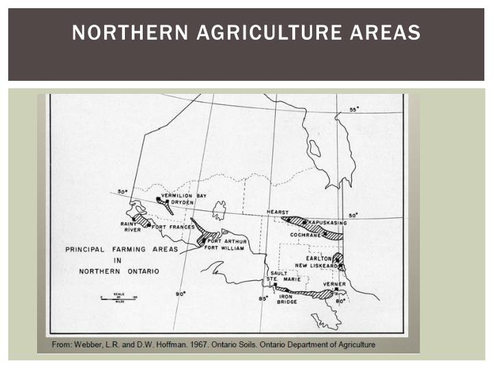 Northern agriculture areas