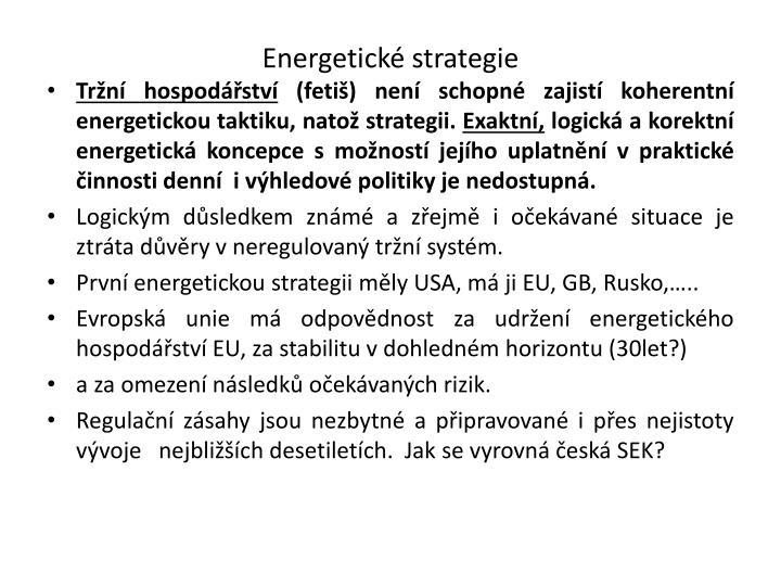 Energetické strategie