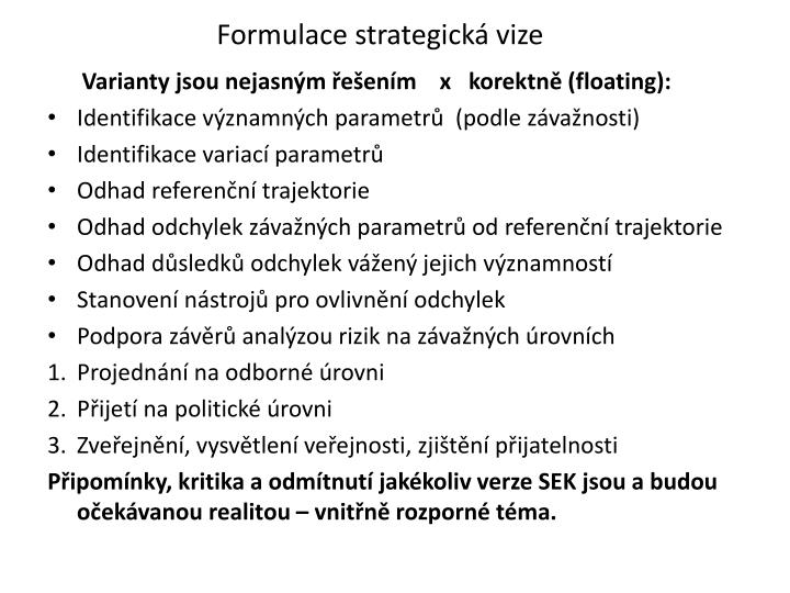 Formulace strategická vize