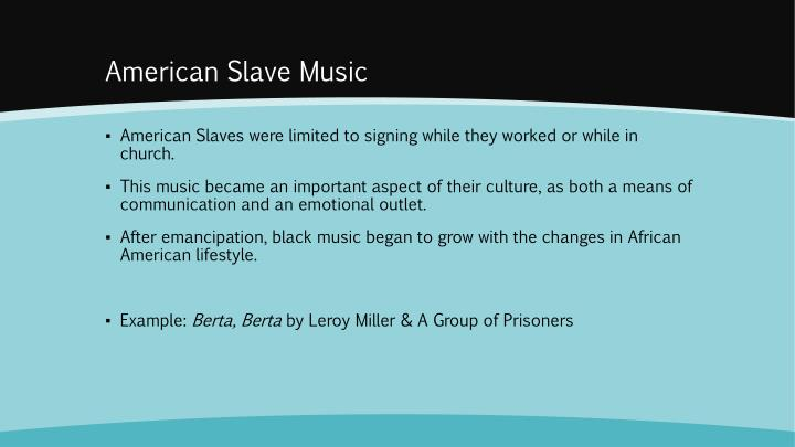 the importance of slave songs in african american history Excerpt from pbs documentary history dectectives slave songbook tracing the development of negro spirituals and cultural connections to africa and performed as classical music, but to also get african american classical composers create symphonic works with the folk music of african americans.