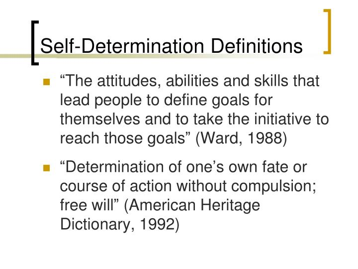 Self-Determination Definitions