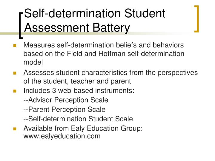 Self-determination Student Assessment Battery