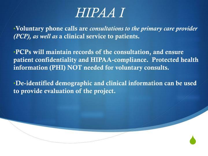 HIPAA I