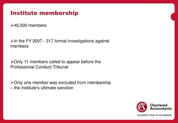 Institute membership