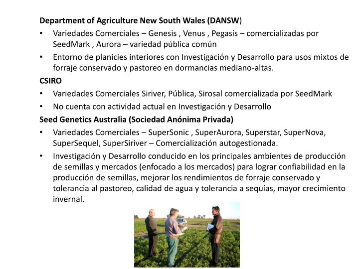 Department of Agriculture New South Wales (DANSW