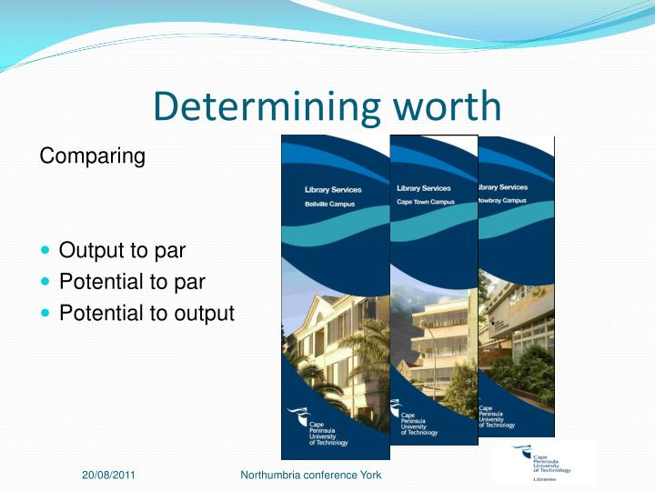 Determining worth