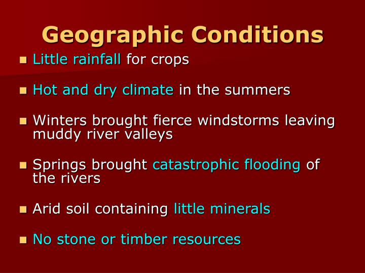 Geographic Conditions