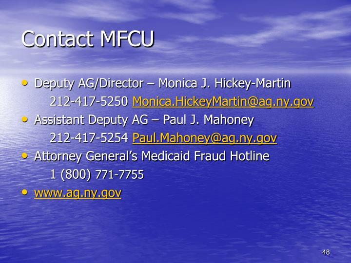 Contact MFCU